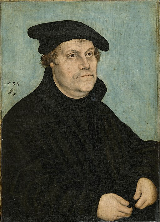 Portrait of Martin Luther by Lucas Cranach the Elder