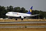 """Lufthansa Boeing 737-330 D-ABEK """"Fanhansa"""" (29890509100).jpg"""