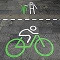 Luksemburgo, stacidomo, biciklantoj deseliĝu, 1.jpeg