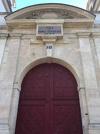 Lycée des Francs-Bourgeois - Main entrance to the Francs-Bourgeois