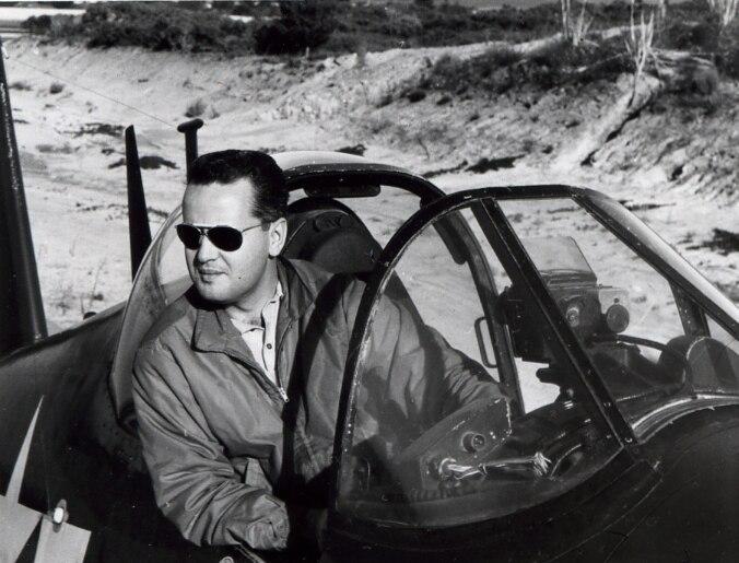 Lynn Garrison in cockpit 1966