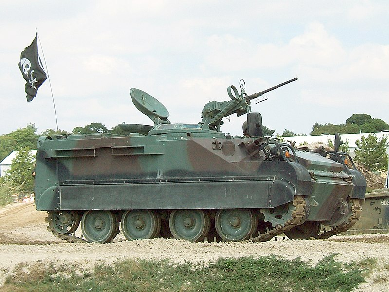 A reconnaissance vehicle designed in the US based on the M113 chassis.