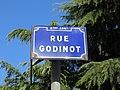 Lyon 6e - Rue Godinot - Plaque (janv 2019).jpg