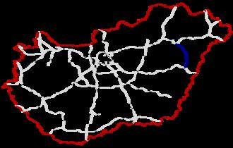 M35 motorway (Hungary) - Image: M35 Autópálya Hungary