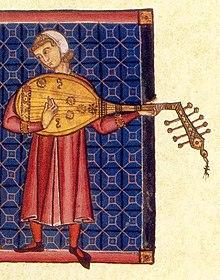 Лютнист манускрипт xiii века