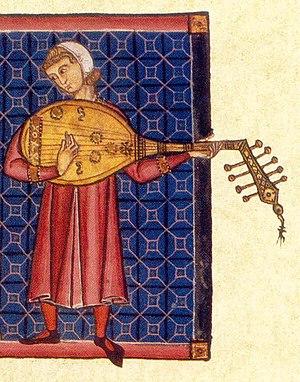 Cantigas de Santa Maria - A lute player.