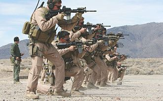 Marine Raiders conducting CQB training MARSOC are shooting with M4 at Washoe Coutny Reginal Shooting Facility.jpg