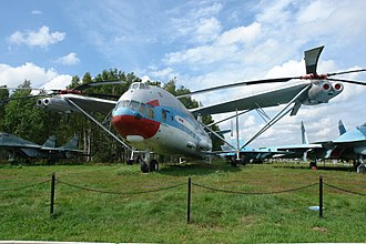 Transverse rotors - An Mil V-12 at Monino Central Air Force Museum (Moscow)