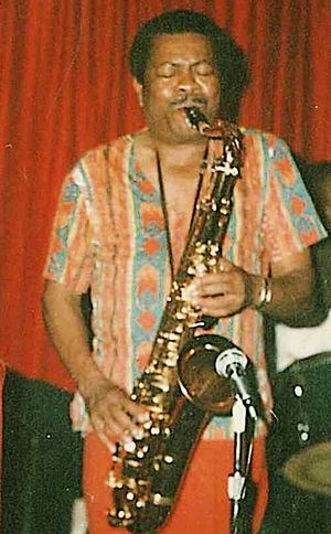 Mickey Fields - Mickey Fields playing saxophone in the 1970s