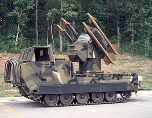 MIM-72 Chaparral - A Chaparral missile launcher.