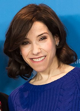 Sally Hawkins won for her performance in Happy-Go-Lucky (2008) MJK35110 Sally Hawkins (Maudie, Berlinale 2017) (cropped).jpg