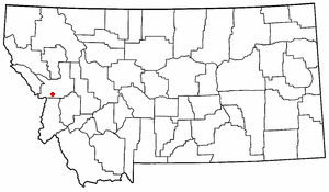 Fort Fizzle (Montana) - The approximate location of Fort Fizzle is shown on the map.