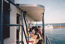 Photograph of a Madeline Island Ferry Boat.
