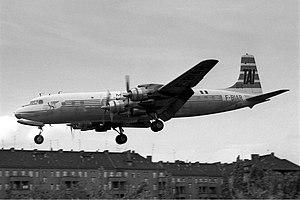Air Madagascar - DC-7 of Madair seen at Tempelhof Airport in West Berlin. (1962)