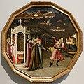 Maestro del giudizio di paride, ratto di elena, 1440-50 ca. desco da parto 01.jpg