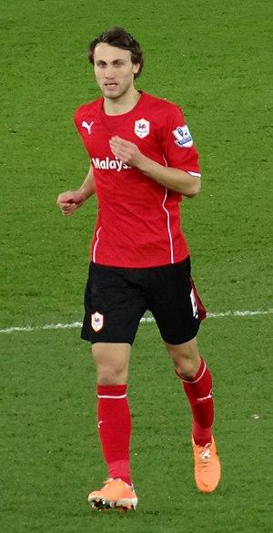 Magnus Wolff Eikrem - Eikrem made his Cardiff City debut at home to West Ham United on 11 January 2014.