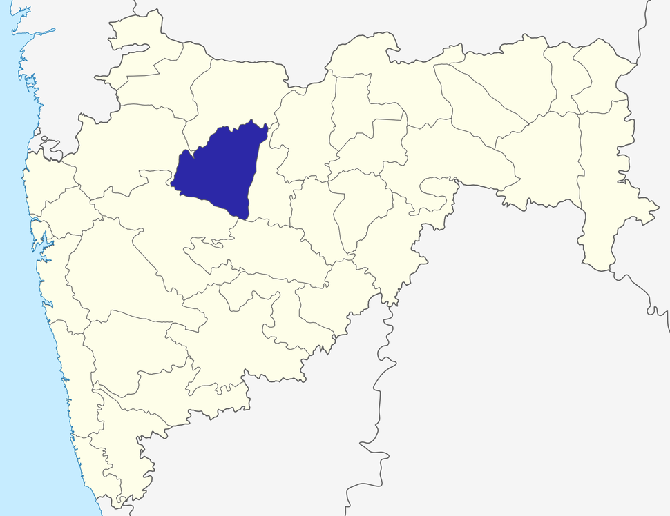 Location of Aurangabad district in Maharashtra