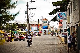 San Pedro Town - Image: Main Street San Pedro, Ambergris Caye