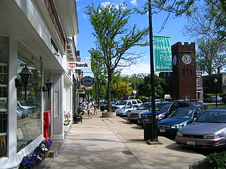 Hudson, Ohio - North Main Street, with the landmark clock tower visible to the right