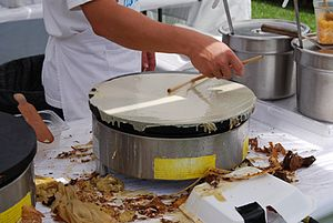 Crepe maker - A modern crepe maker in Germany