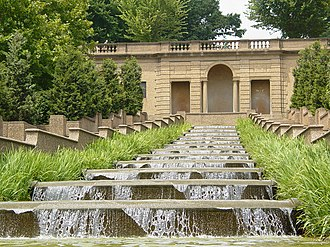 Meridian Hill Park - A thirteen-basin cascade fountain is one of the most dramatic features of Meridian Hill Park