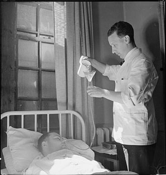 Nursing - A nurse at Runwell Hospital, Wickford, Essex, in 1943