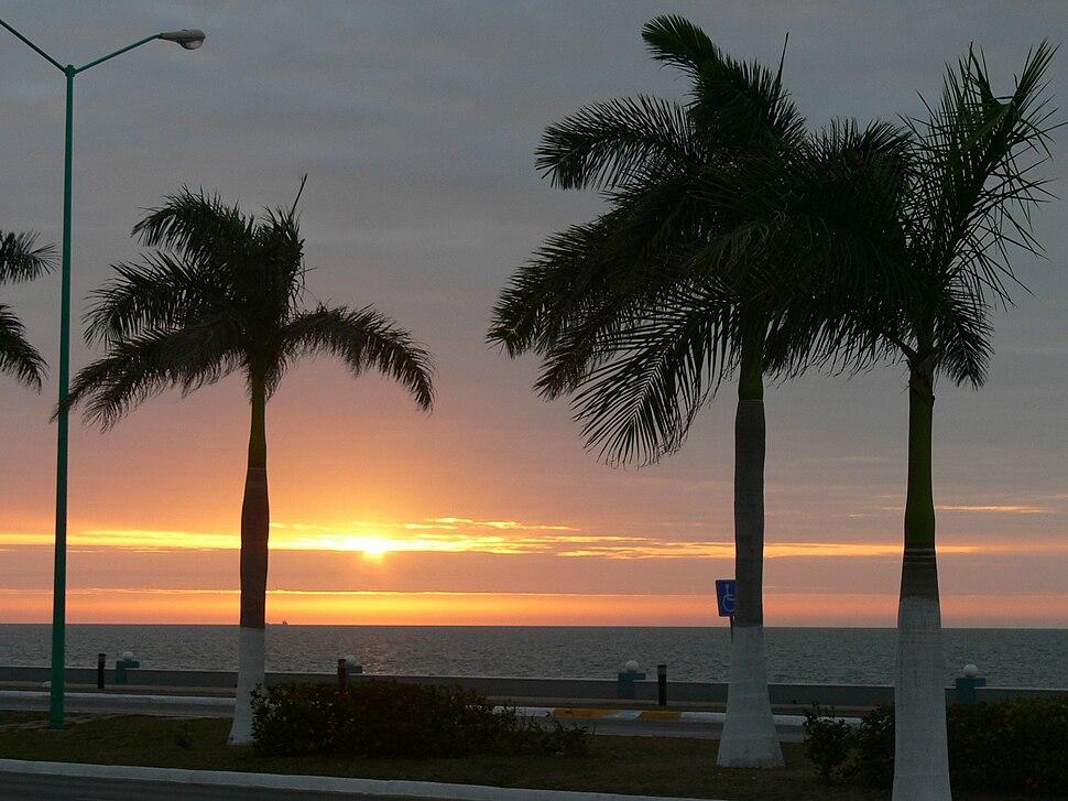 Campeche's seawall