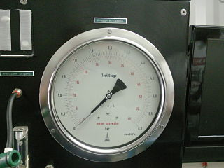 Metre sea water Unit of pressure equal to one tenth of a bar