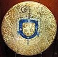 Manises, piatto con stemma di joan payo coello, abate di poblet, 1480-1499 ca..JPG