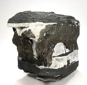 Todorokite - Todorokite with manjioite and calcite from the Smartt Mine, Kuruman District, South Africa