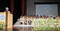 Manmohan Singh addressing at the Golden Jubilee Convocation of IIT Bombay, in Mumbai. The Governor of Maharashtra.jpg