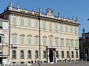 North-Western Italian architecture - A Baroque palace, or palazzo found in the Piazza Sordello, Mantua.