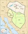 Map Anasazi, Hohokam and Mogollon cultures-he.png