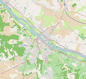 Battle of Saumur (1940) - Modern map of Saumur