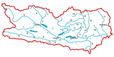 Steiermark Karte Flüsse.Geographie Kärntens Wikipedia