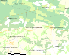 Map commune FR insee code 40265.png