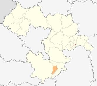 Dolna Banya Municipality - Image: Map of Dolna banya municipality (Sofia Province)