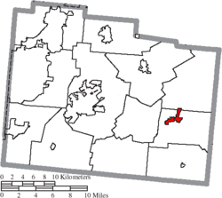 Location of Jamestown in Greene County