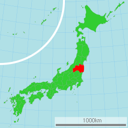Map of Japan with highlight on 07 Fukushima prefecture.svg