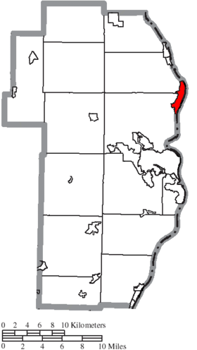 Map of Jefferson County Ohio Highlighting Toronto City.png