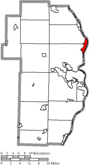 Toronto, Ohio - Image: Map of Jefferson County Ohio Highlighting Toronto City