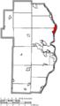 Map of Jefferson County Ohio Highlighting Toronto City.png