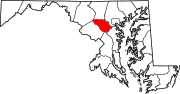 Map of Maryland highlighting Howard County.svg