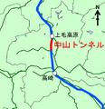 Map of Nakayama tunnel Joetsu Shinkansen ja.png