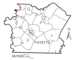 Location of Newell in Fayette County