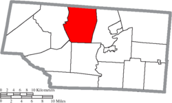 Location of Pebble Township in Pike County