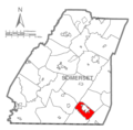 Map of Somerset County, Pennsylvania highlighting Larimer Township.PNG