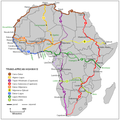 Map of Trans-African Highway System with South Sudan included.png