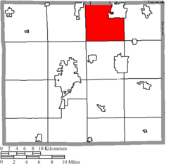 Location of Milton Township in Wayne County