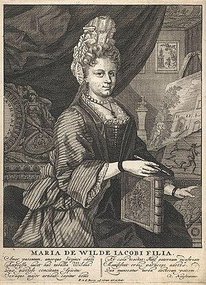 Maria de Wilde - Maria de Wilde, engraving ca. 1700